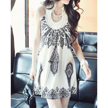 New Women's Floral Classic Vintage Collar Exotic Mini Dress