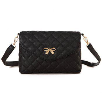 Trendy Bow and Checked Design Women's Crossbody Bag