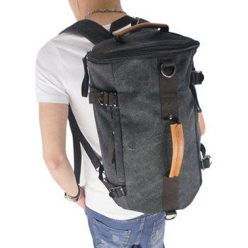 Outdoor Canvas and Splice Design Backpack For Men