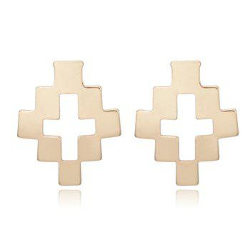 Pair of Fashion Hollow Cross Stud Earrings For Women