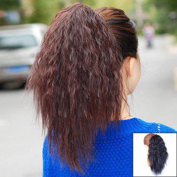Trendy Personality Fluffy Long Wavy High Temperature Fibre Women's Ponytail