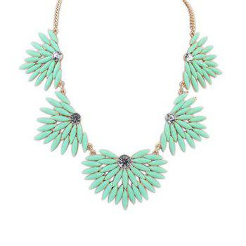 Stylish Chic Candy Color Beads Geometric Shape Necklace For Women