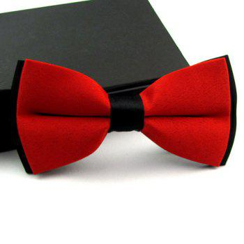 Stylish Casual Color Blocked Bow Tie For Men