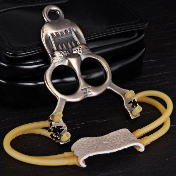 Tiger Pattern Slingshot of Stainless Steel Material Special for Athletics -