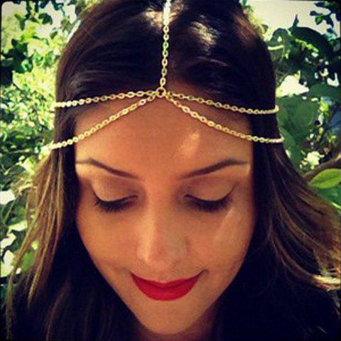 Cute Double-Layered Hairband For Women - CHAMPAGNE
