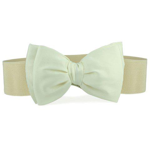 Delicate Solid Color Bowknot Buckle Waist Belt For Women - COLOR ASSORTED