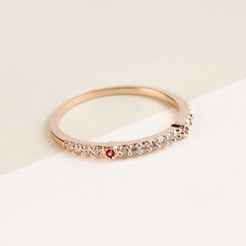 Fashion Rhinestone Decorated Simple Design Ring For Women - ROSE GOLD ONE-SIZE