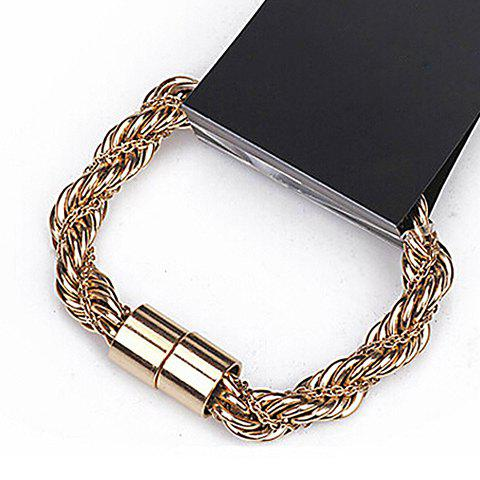 Double-Layer Screwy Chain Bracelet - AS THE PICTURE