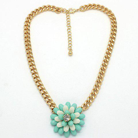 Sweet Simple Design Manual Beads Flower Pendant Necklace For Women