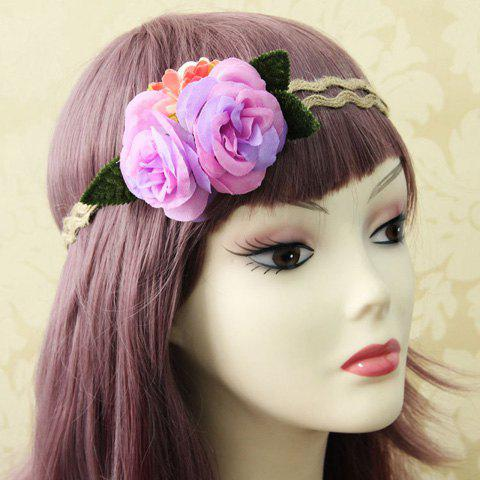 Bohemia Flower Colored Hairband For Women - AS THE PICTURE