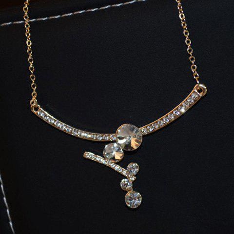 Exquisite Diamante Special Design Pendant Necklace For Women - AS THE PICTURE