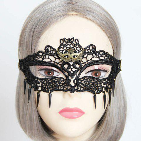 Stylish Lace Rivet Mask For Women