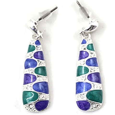 Pair of Delicate Chic Color Glazed Drop Earrings For Women