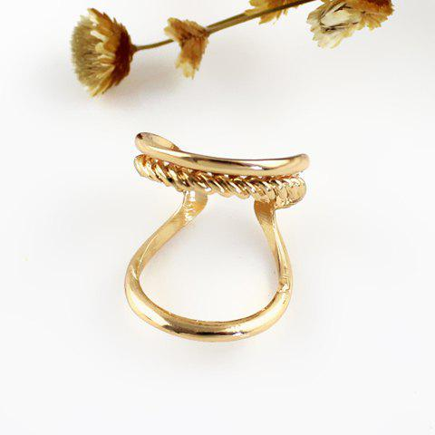 Opening Mouth Pattern Alloy Ring - GOLDEN ONE-SIZE