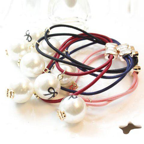 Sweet Faux Pearl Pendant Multi-Layered  Elastic Hair Band For Women  (ONE PIECE)
