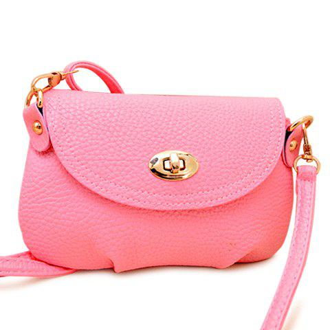 Casual Solid Color and Twist-Lock Design Crossbody Bag For Women -  WATERMELON RED