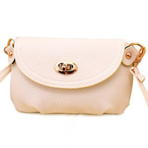 Casual Solid Color and Twist-Lock Design Crossbody Bag For Women