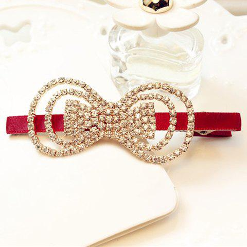 Chic Rhinestone Openwork Hairpin For Women - COLOR ASSORTED
