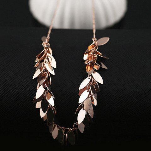 Chic Leaves Pendant Necklace For Women - ROSE GOLD