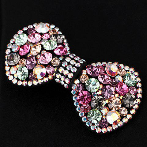 Sweet Diamante Colorful Bowknot Hairpin For Women -  COLOR ASSORTED