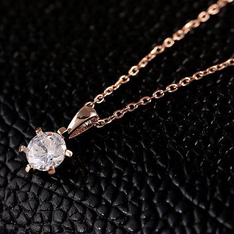 Stylish Tiny Bead Pendant Necklace For Women - ROSE GOLD