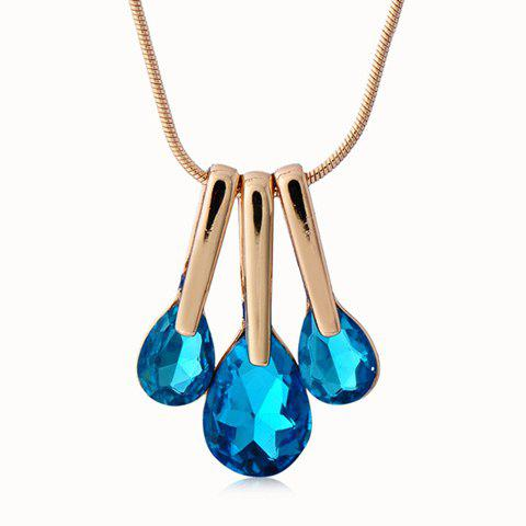 Exquisite Faux Crystal Decorated Waterdrop Pendant Necklace For Women    (ONE PIECE) - COLOR ASSORTED