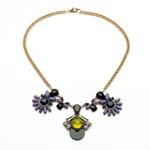 Fashion Colorful Flower Pendant Special Design Necklace For Women - AS THE PICTURE