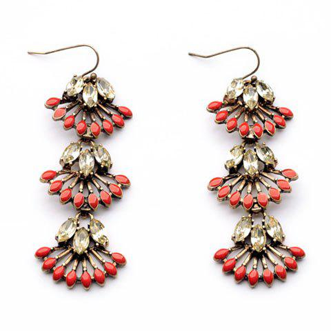 Pair of delicate multi layered fan shaped flower pendant for Stella and dot jewelry wholesale