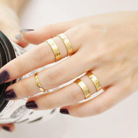Chic Simple Design Polishing Hollow Double-Layer Cuff Ring For Women    (ONE PIECE) - GOLDEN ONE-SIZE