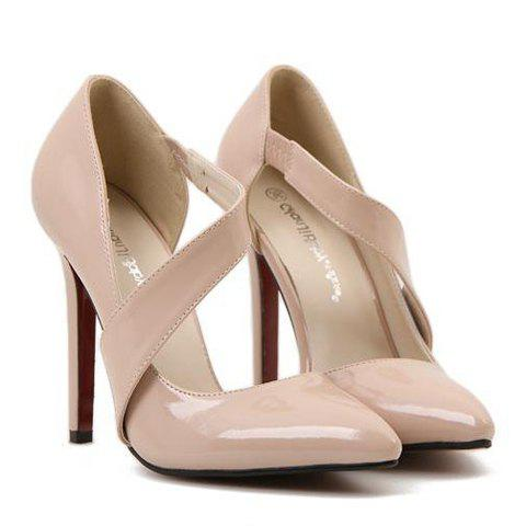 Sexy Hollow Out and Pointed Toe Design Pumps For Women - NUDE 39