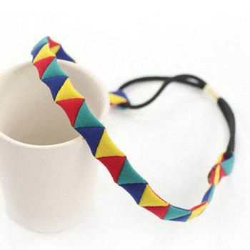 Stylish Chic Triangle Pattern Hairband For Women - YELLOW YELLOW