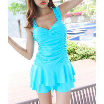 Cute Ruffled Sweetheart Neckline One-Piece Swimsuit For Women