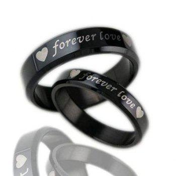 ONE PIECE Heart Letter Lover Couple Ring - MALE ONE SIZE