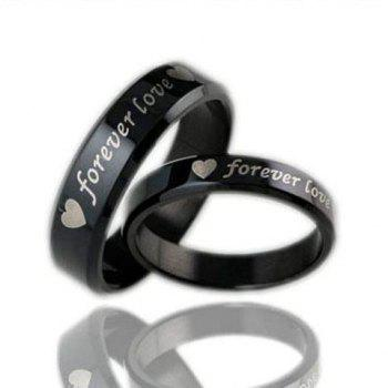 ONE PIECE Heart Letter Lover Couple Ring
