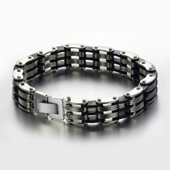 Punk Layered Cycle Chain Bracelet -  AS THE PICTURE