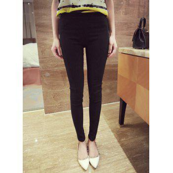 Solid Color yle Narrow Feet All-Match Skinny Simple StWomen's Pants