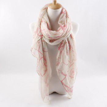 New Arrival Bicycle Pattern Voile Scarf