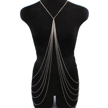 Sexy Symmetrical Design X-Shaped Multi-Layered Tassels Women's Body Chain