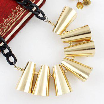 Simple Design Exaggerated Alloy Necklace For Women - GOLDEN