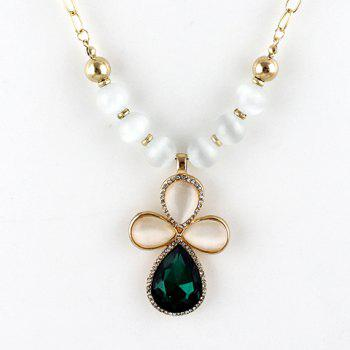 Elegant Gem Decorated Geometry Shape  Alloy Necklace For Women