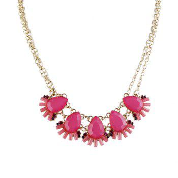 Fashionable Rhinestone Embellished Geometry Shape Necklace For Women