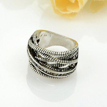 Multilayered Alloy Ring - SILVER ONE-SIZE