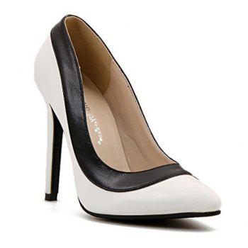 Trendy Pointed Toe and Color Block Design Pumps For Women - 40 40