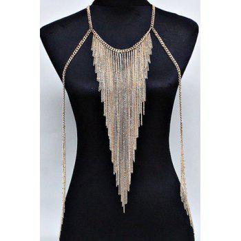 Multilayered Tassel Belly Body Chain