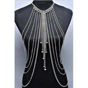Sexy Solid Color Symmetry Multi-Layered Pendant Decorated  Women's Body Chain
