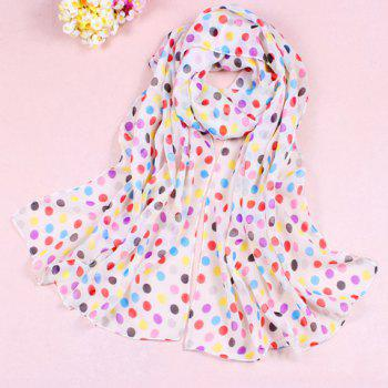 Sweet Colorful Polka Dot Chiffon Scarf