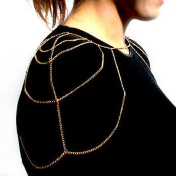 Sexy Multi-Layered Net Pattern Body Chain For Women -  GOLDEN
