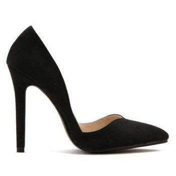 Fashionable Suede and Pointed Toe Design Pumps For Women - 39 39