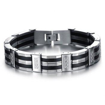 Chic Fashion Pattern Decorated Link Bracelet For Men - AS THE PICTURE AS THE PICTURE