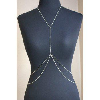 Sexy Simple Design Branch Pattern Body Chain For Women